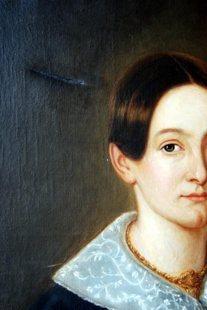 Damenporträt im Vorzustand