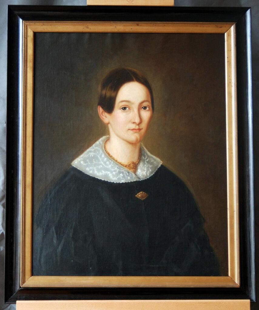 Damenporträt nach der Restaurierung