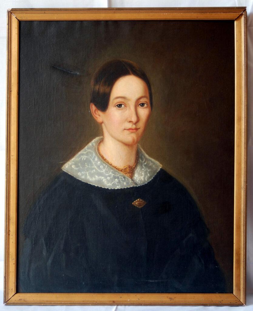 Damenporträt vor der Restaurierung
