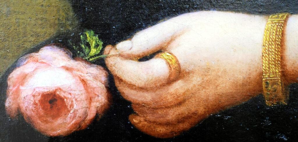 Gemälde Porträt Anna Detharding, Detail