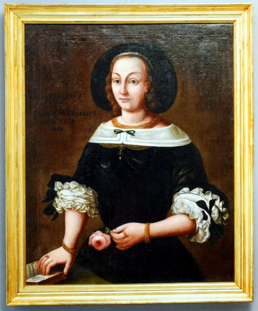 Porträt Anna Detharding, Detail nach Restaurierung