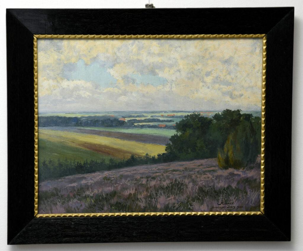 Gemälde Oskar Kiecker, Brelinger Berg, nach der Restaurierung