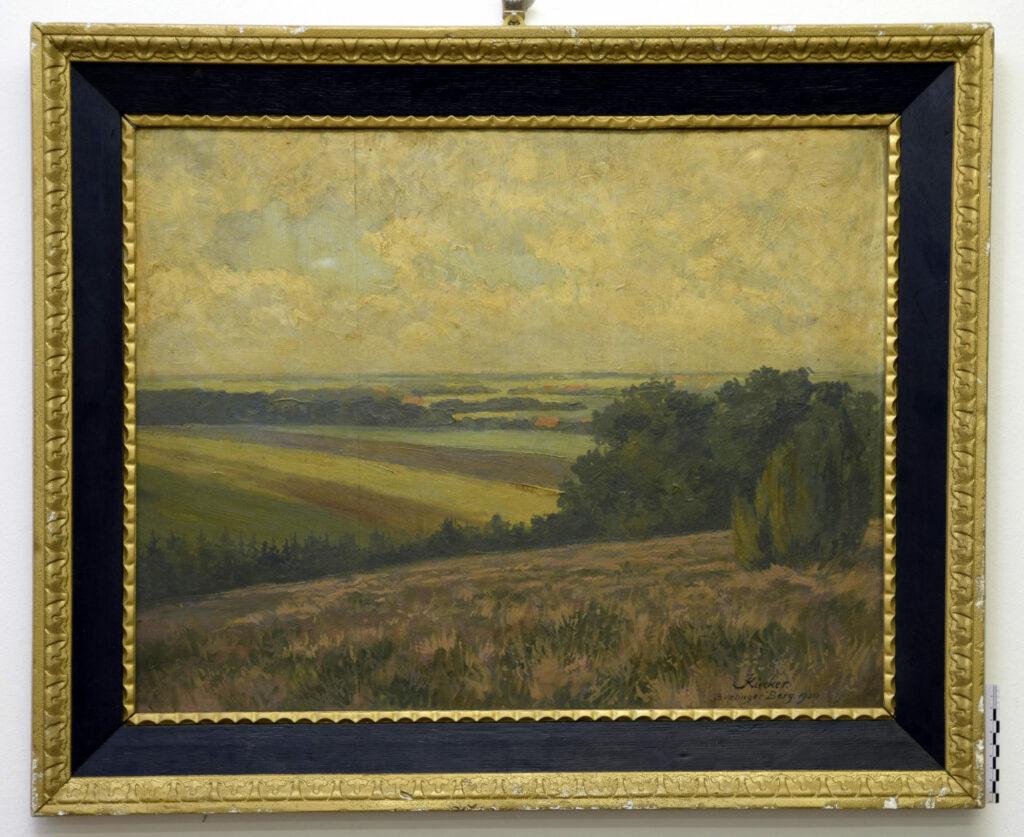 Gemälde Oskar Kiecker, Brelinger Berg, vor der Restaurierung
