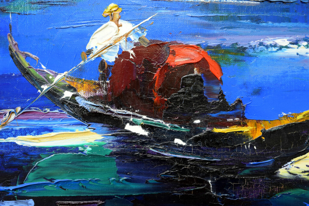 Gemälde John Berfort, Venedig mit Kittungen