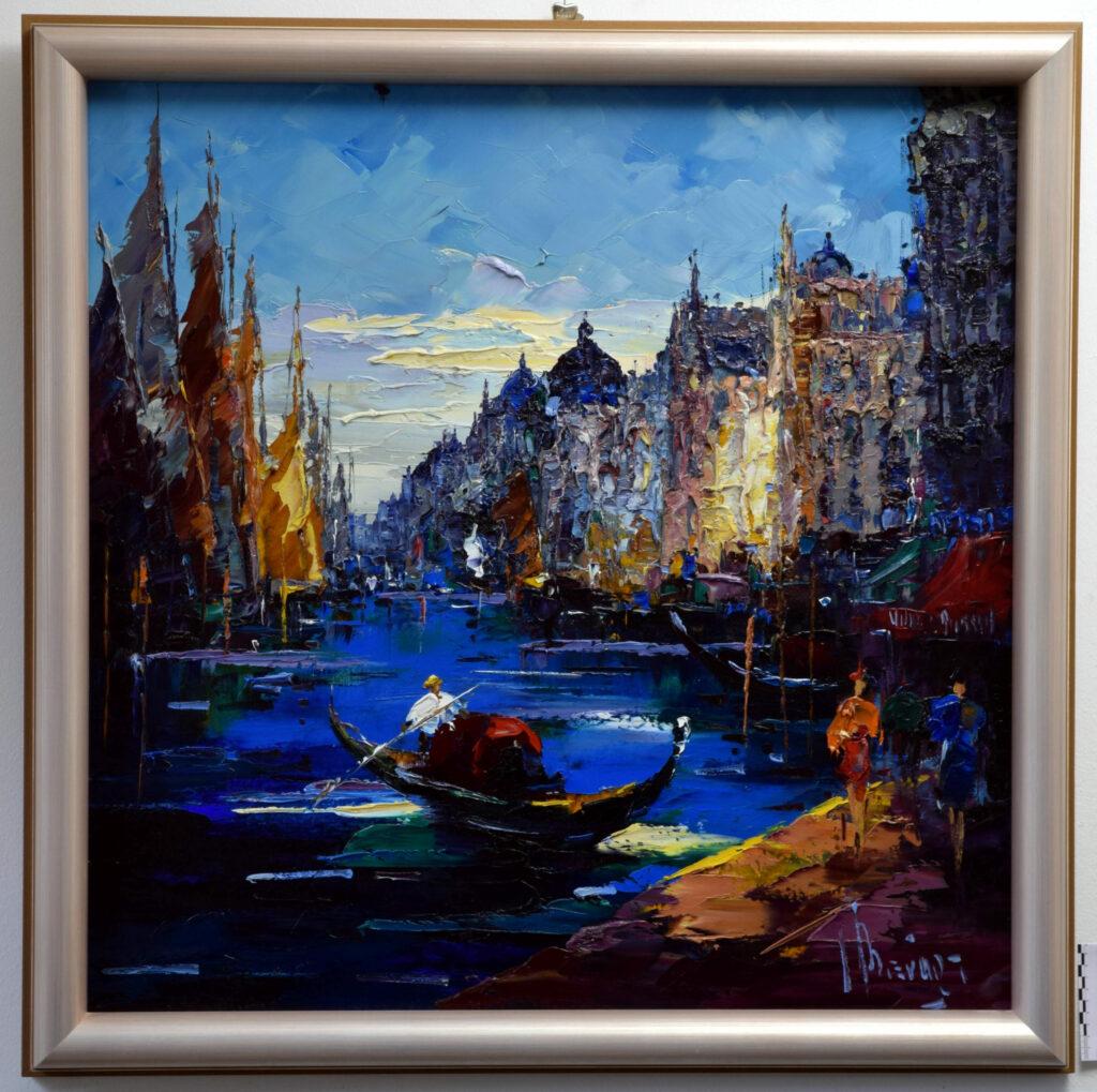Gemälde von John Berfort, Venedig nach der Konservierung und Restaurierung