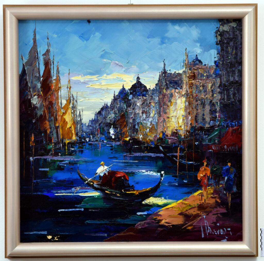 Gemälde von John Berfort, Venedig vor der Restaurierung