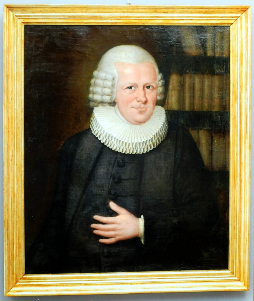 Gemälde Porträt Georg Friedrich Herzog Detail nach der Konservierung und Restaurierung