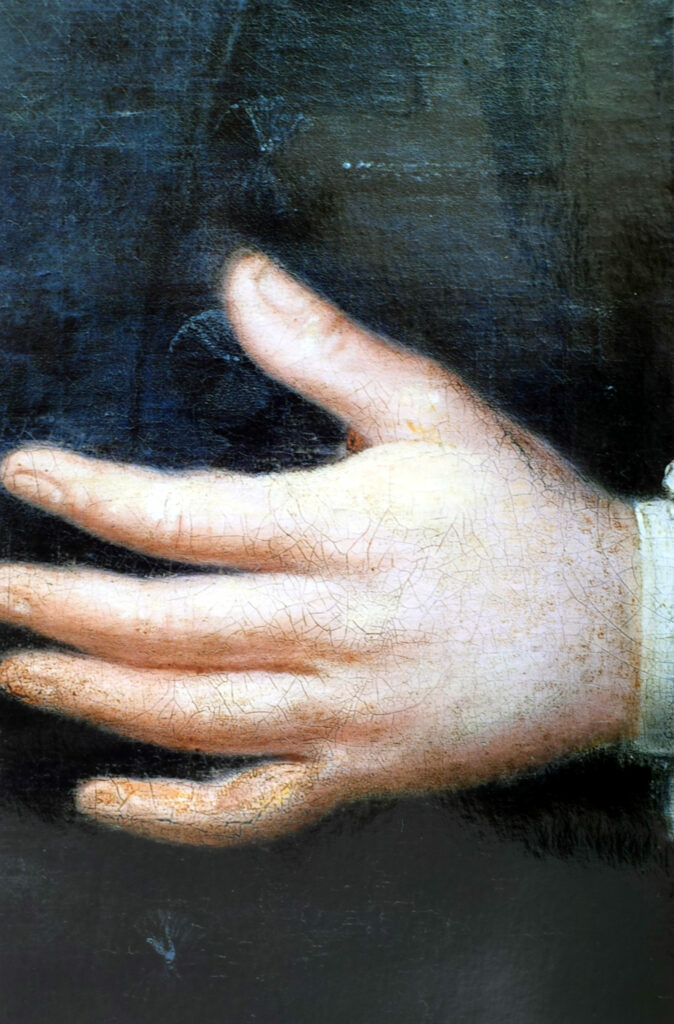 Gemälde Porträt Georg Friedrich Herzog Detail mit Retuschen