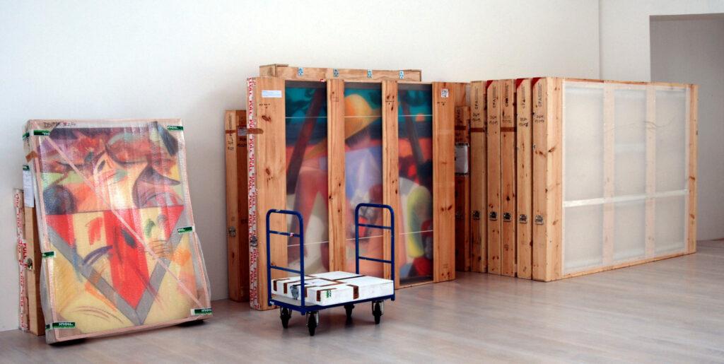 Ausstellungsaufbau Kestner Gesellschaft Hannover